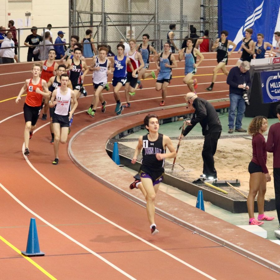 Max competing at Section 1 Championships